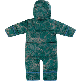 Columbia Snuggly Bunny Bunting Overall Spædbørn, pine green continents camo/blue heron